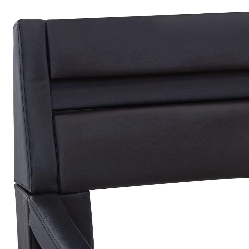 vidaXL Bedframe met LED kunstleer zwart 140x200 cm