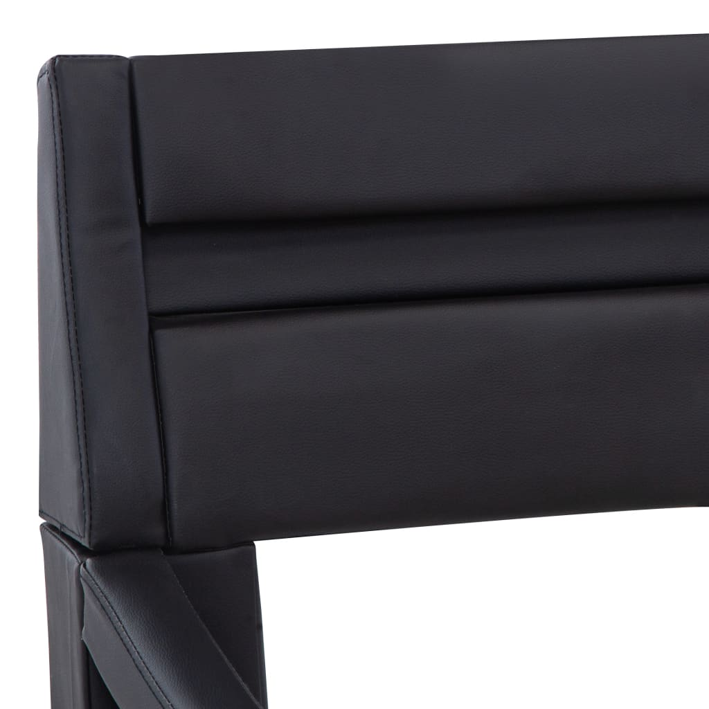 vidaXL Bedframe met LED kunstleer zwart 160x200 cm