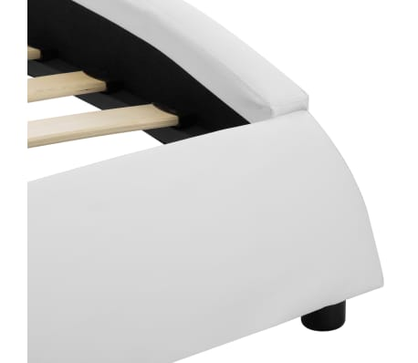 vidaXL Cadre de lit avec LED Blanc Similicuir 180x200 cm[6/9]