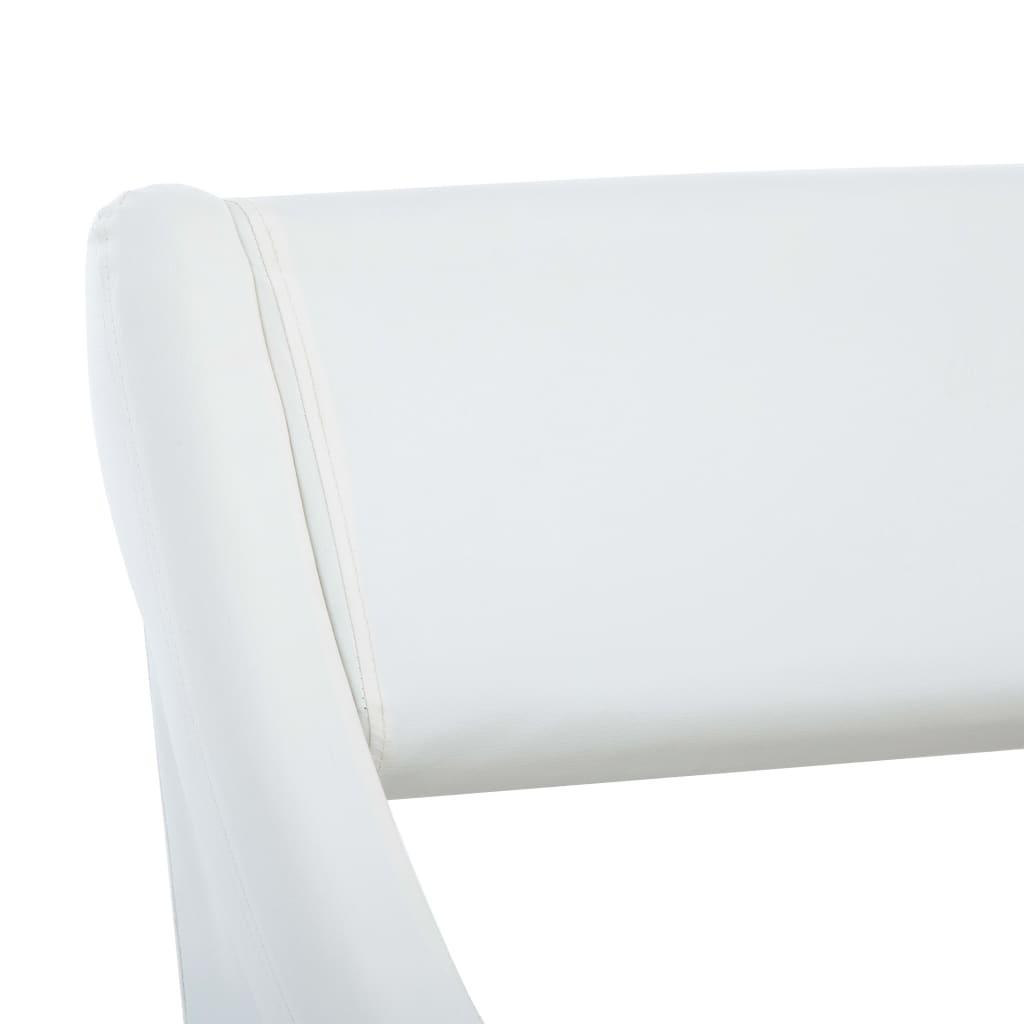 vidaXL Bedframe kunstleer wit 180x200 cm