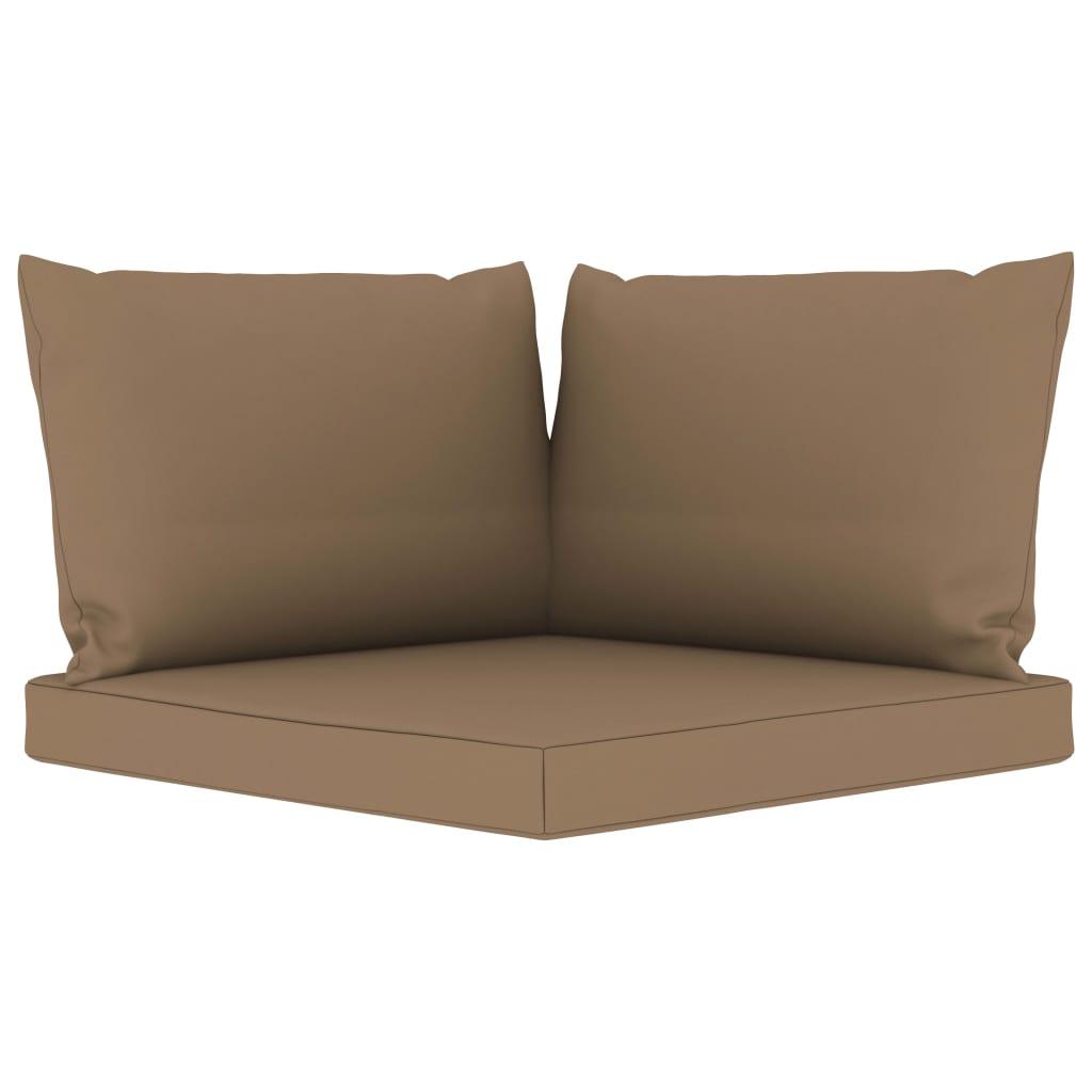 vidaXL Perne de canapea din paleți, 3 buc., gri taupe, material textil imagine vidaxl.ro