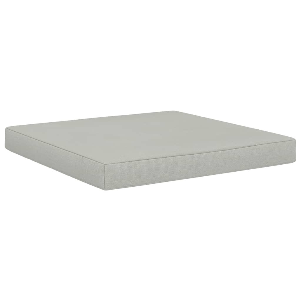 Poduška na nábytek z palet 60 x 61,5 x 6 cm béžová textil