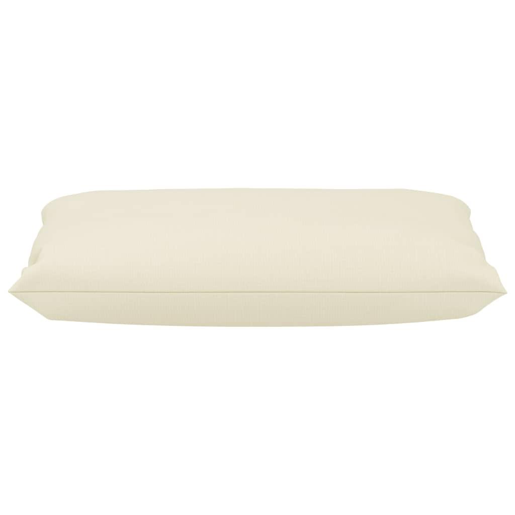 vidaXL Bankkussens pallet 2 st stof crème