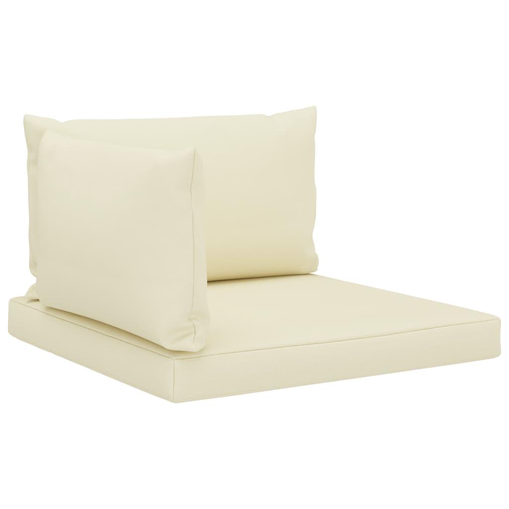 vidaXL Perne de canapea din paleți, 3 buc., crem, material textil poza vidaxl.ro