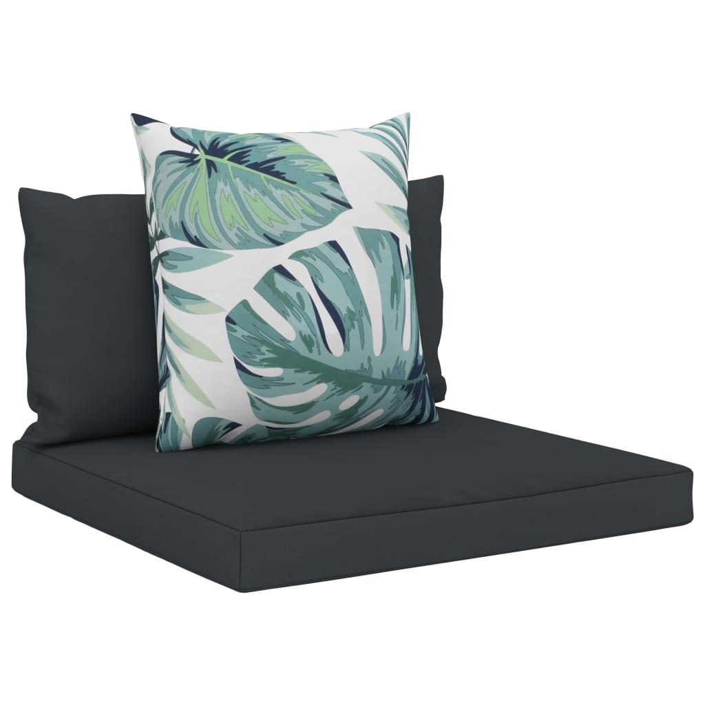 vidaXL Perne de canapea din paleți, 3 buc., antracit, material textil poza vidaxl.ro
