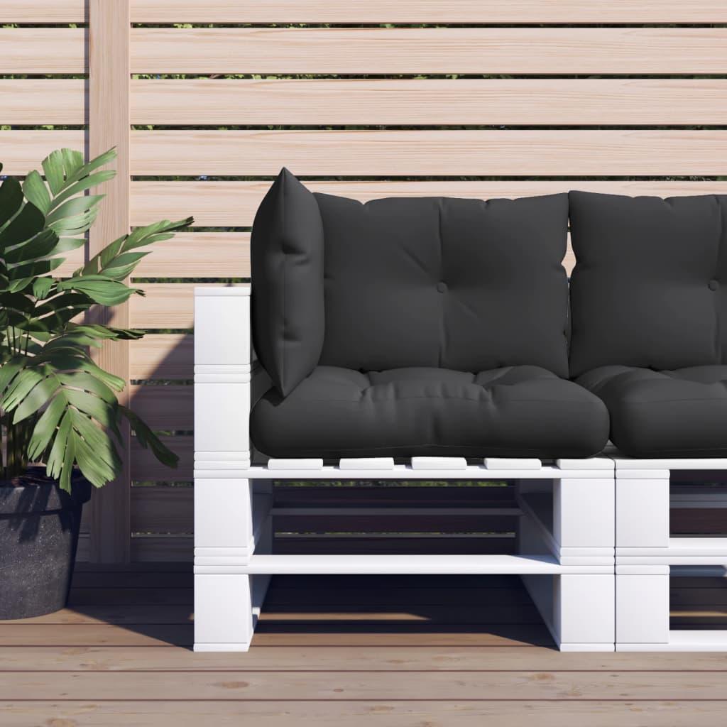 vidaXL Perne de canapea din paleți, 3 buc., negru, material textil poza vidaxl.ro