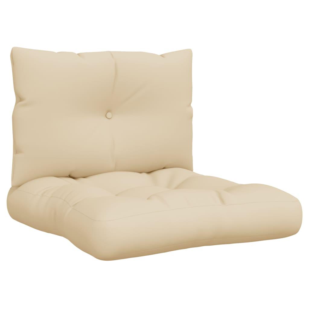 vidaXL Perne de canapea din paleți, 2 buc., bej, material textil vidaxl.ro