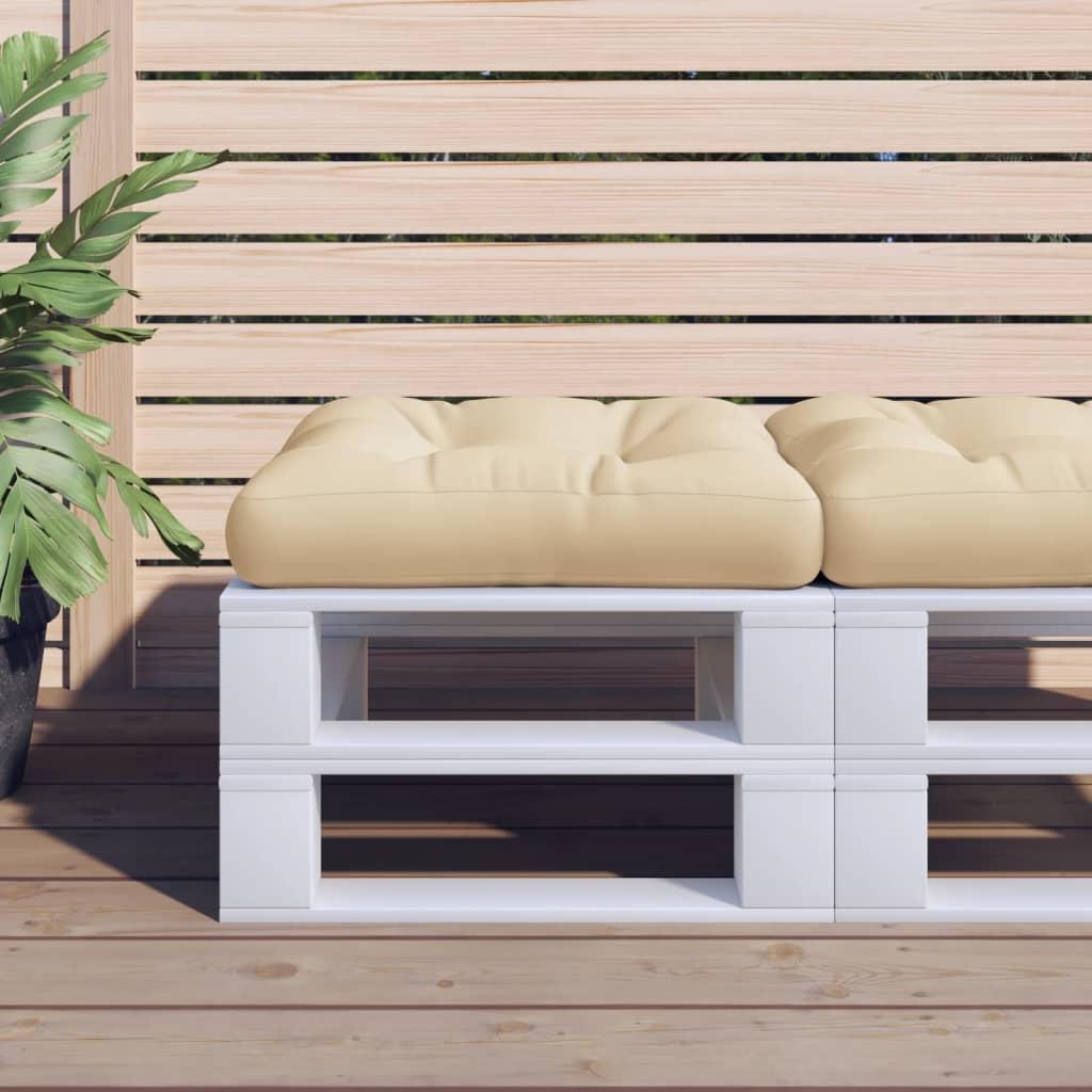 Poduška na nábytek z palet 60 x 61 x 10 cm béžová