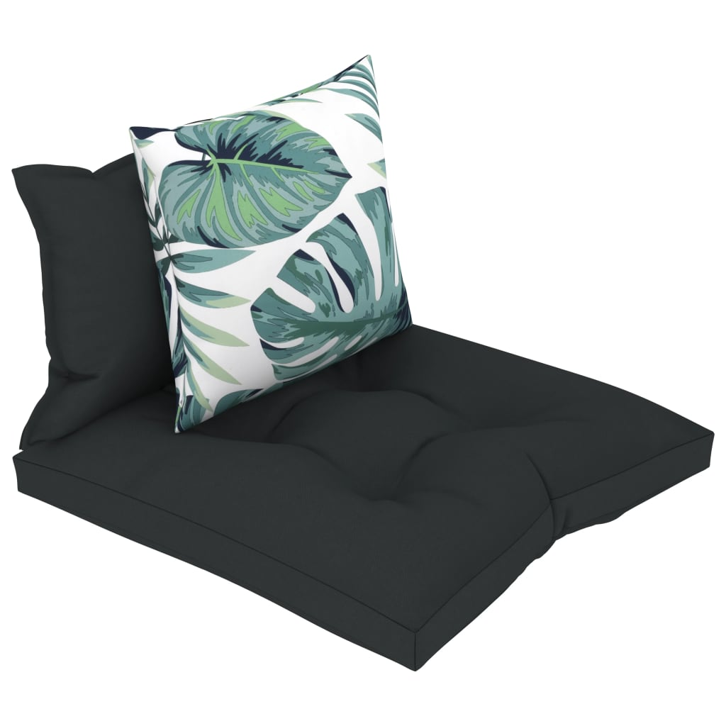 vidaXL Perne de canapea din paleți, 3 buc., antracit, material textil vidaxl.ro