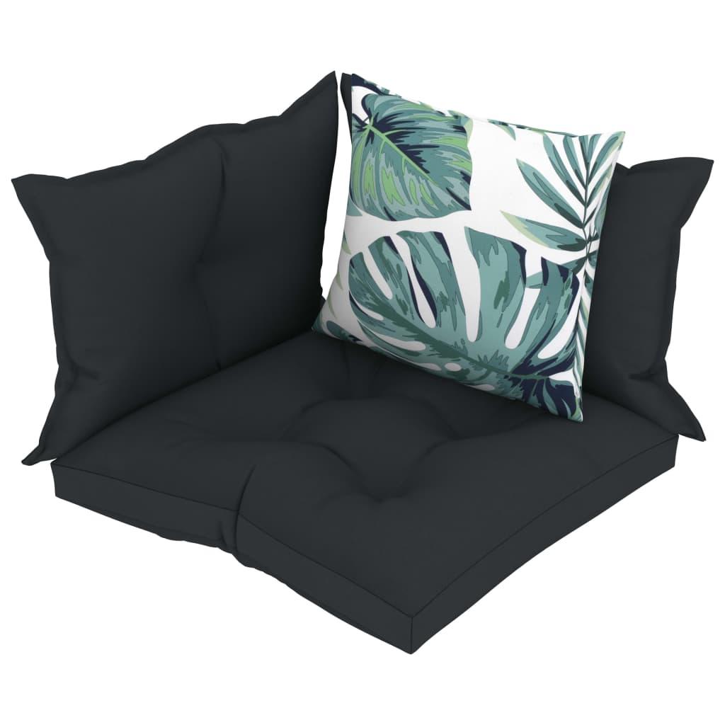 vidaXL Perne de canapea din paleți, 4 buc., antracit, material textil vidaxl.ro
