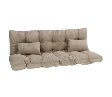 vidaXL 4-delige Kussenset voor schommelstoel stof beige