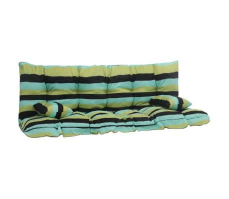 vidaXL 4dílná sada podušek pro zahradní houpačku zelená textil