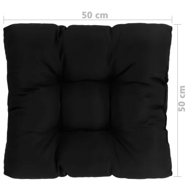 Tessuto Per Sedie Da Giardino.Vidaxl Cuscino Per Sedia Da Giardino Nero 50x50x10 Cm Tessuto