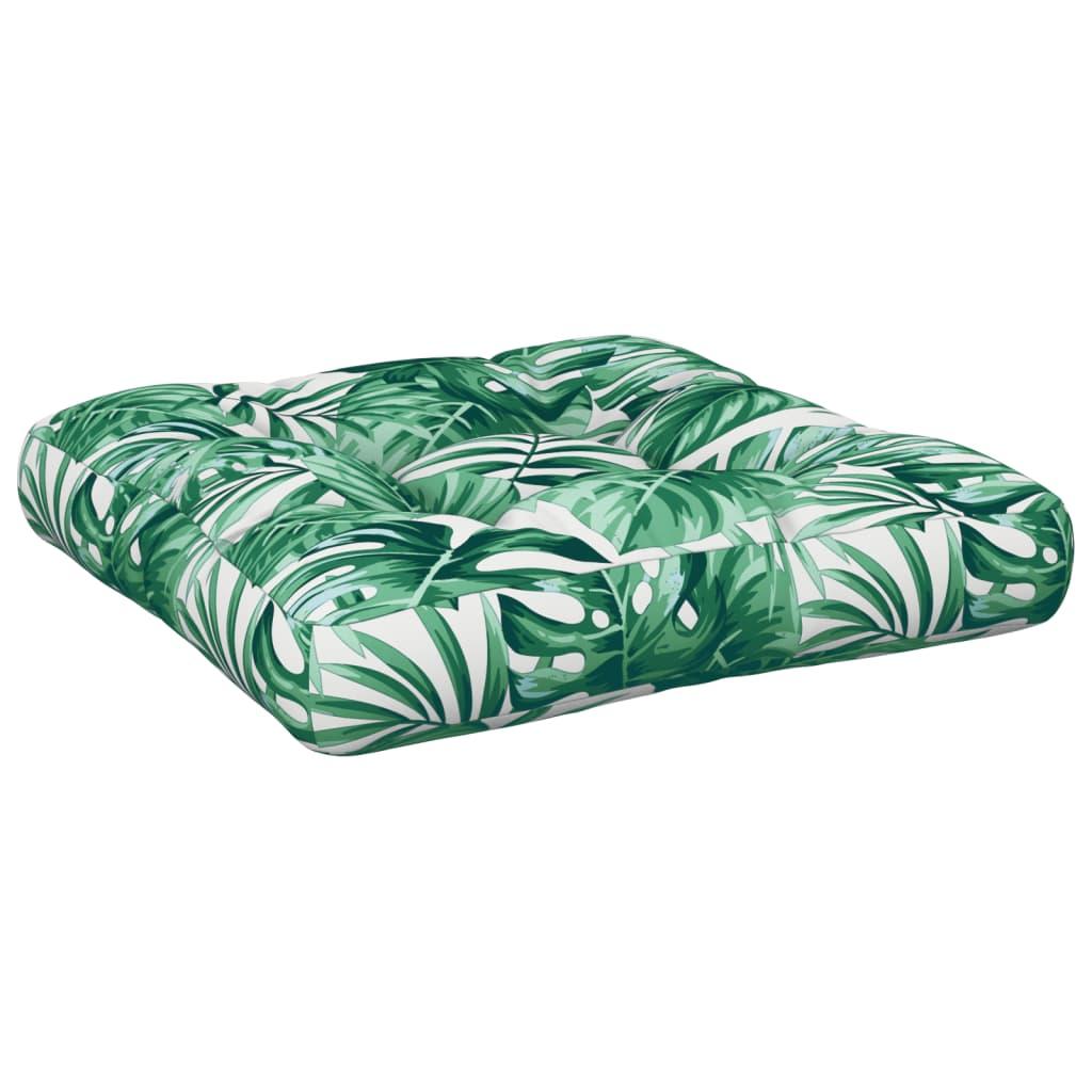 vidaXL Pernă de scaun grădină, frunze, 60x60x10 cm, material textil poza 2021 vidaXL