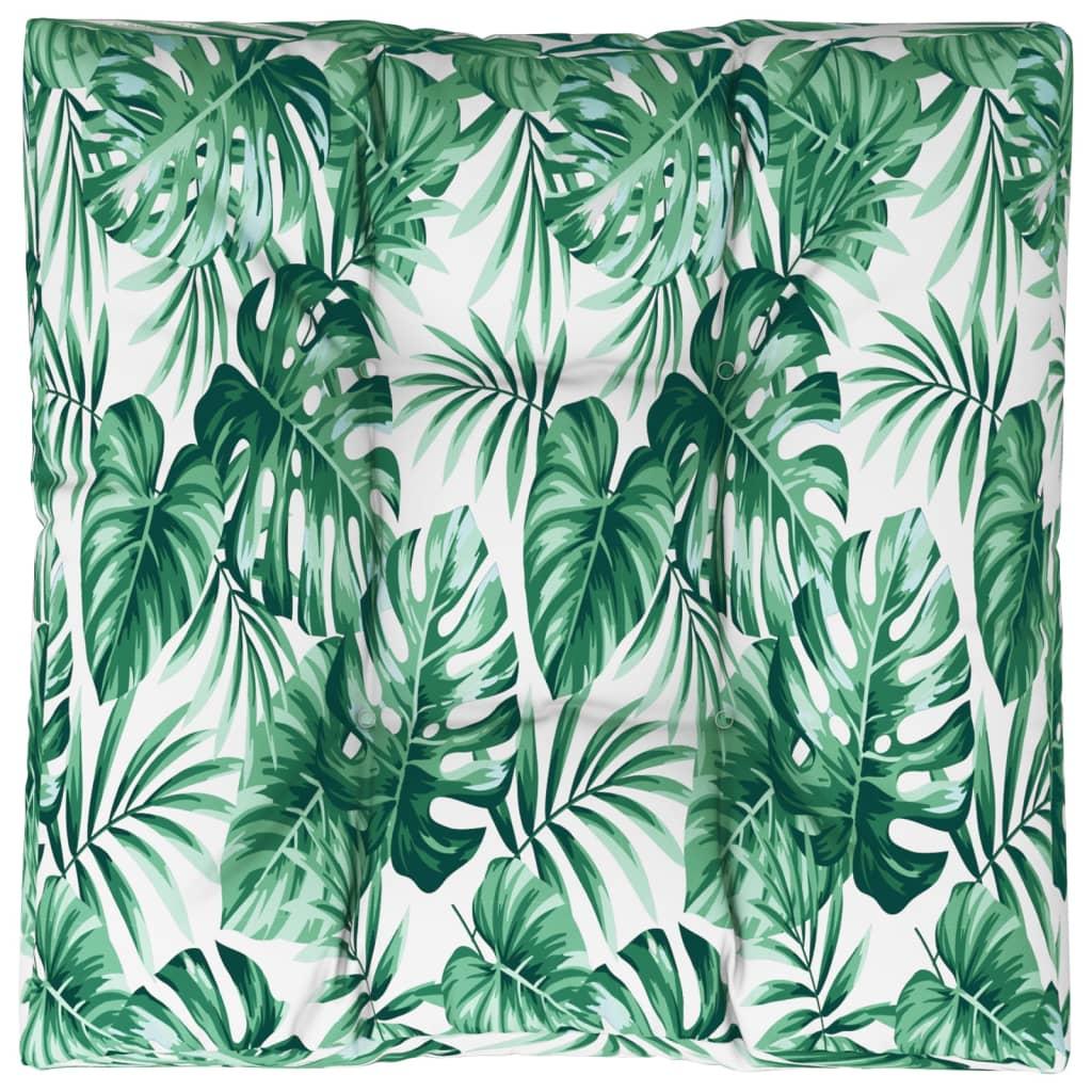 vidaXL Pernă de scaun de grădină, frunze, 80x80x10 cm, material textil vidaxl.ro