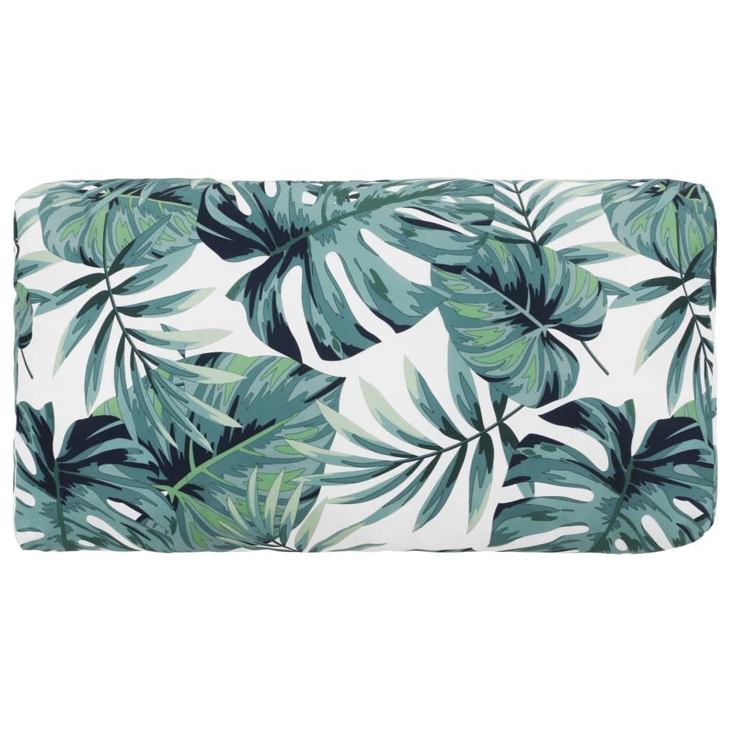 vidaXL Pernă de scaun de grădină, frunze, 40x80x20 cm, material textil poza vidaxl.ro