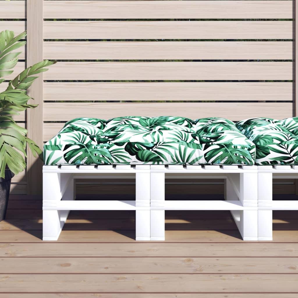 vidaXL Zahradní poduška na sedák zelená 120 x 80 x 10 cm textil