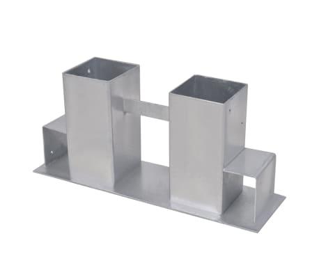 vidaXL Suporturi de stivuire lemne de foc, 8 buc., argintiu, oțel[2/4]