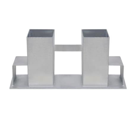 vidaXL Suporturi de stivuire lemne de foc, 8 buc., argintiu, oțel[3/4]
