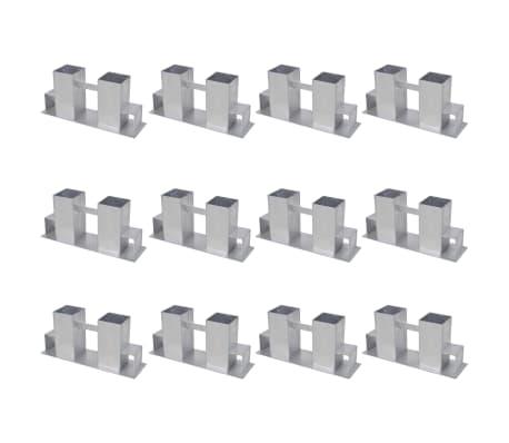 vidaXL Vedstaplingsstöd 12 st stål silver