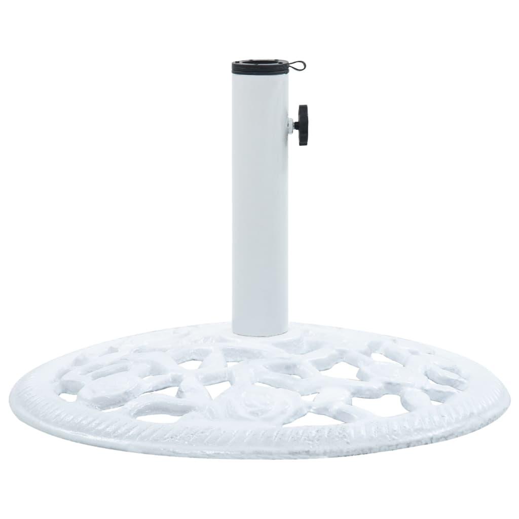 vidaXL Suport de umbrelă, alb, 12 kg, fontă, 48 cm vidaxl.ro
