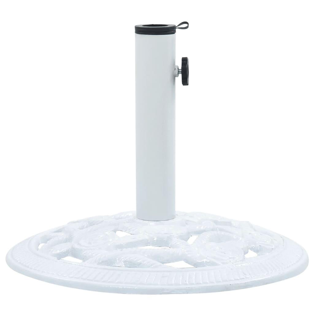 vidaXL Suport de umbrelă, alb, 9 kg, fontă, 40 cm vidaxl.ro