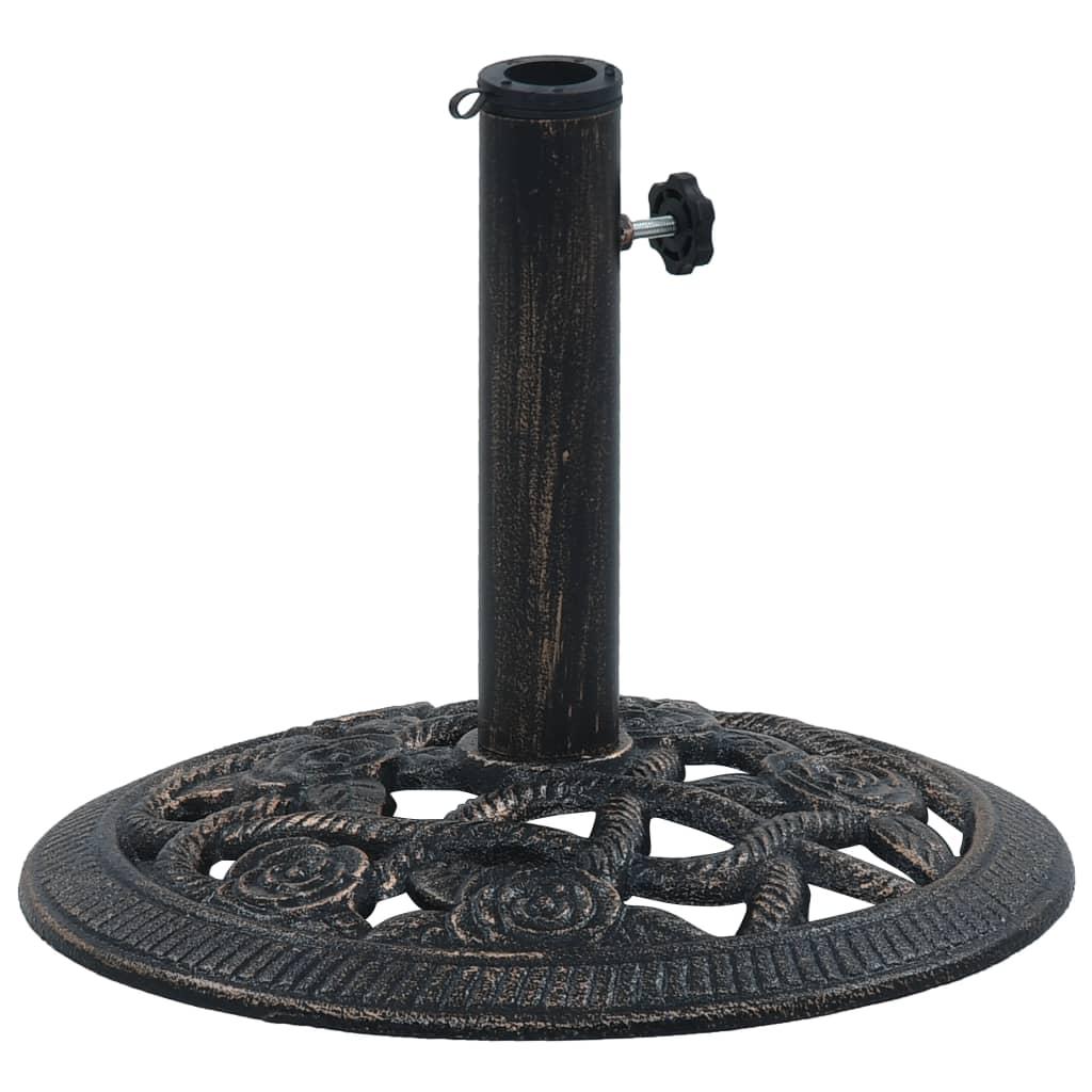 vidaXL Suport de umbrelă, negru și bronz, 9 kg, fontă, 40 cm imagine vidaxl.ro