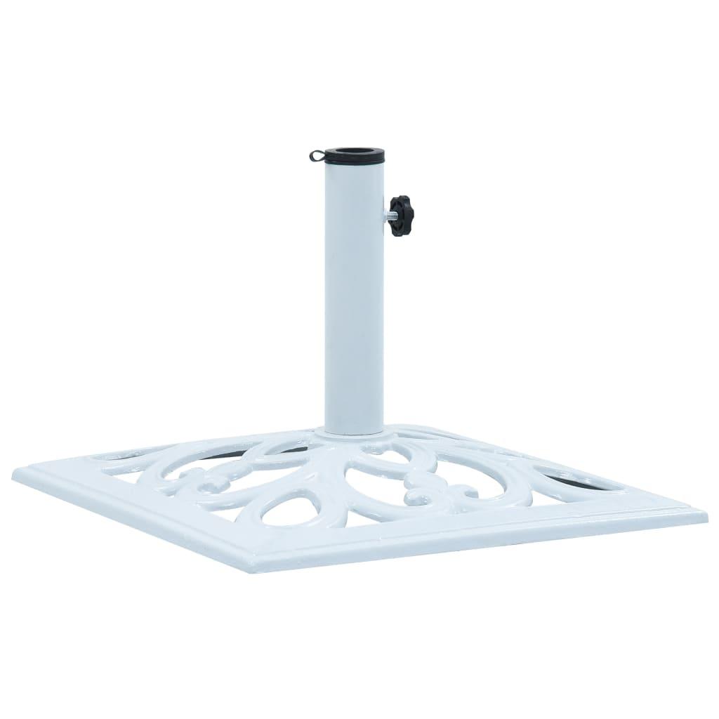 vidaXL Suport de umbrelă, alb, 12 kg, fontă, 49 cm vidaxl.ro