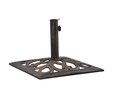 "vidaXL Umbrella Base Bronze 26.5 lbs 19.3"" Cast Iron"