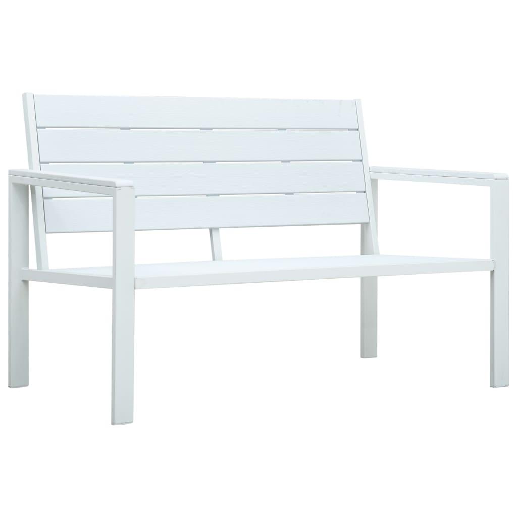 Aiapink, 120 cm, HDPE, valge, puiduvälimusega