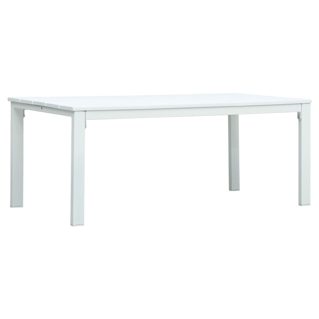 vidaXL Konferenční stolek bílý 98 x 48 x 39 cm HDPE dřevěný vzhled