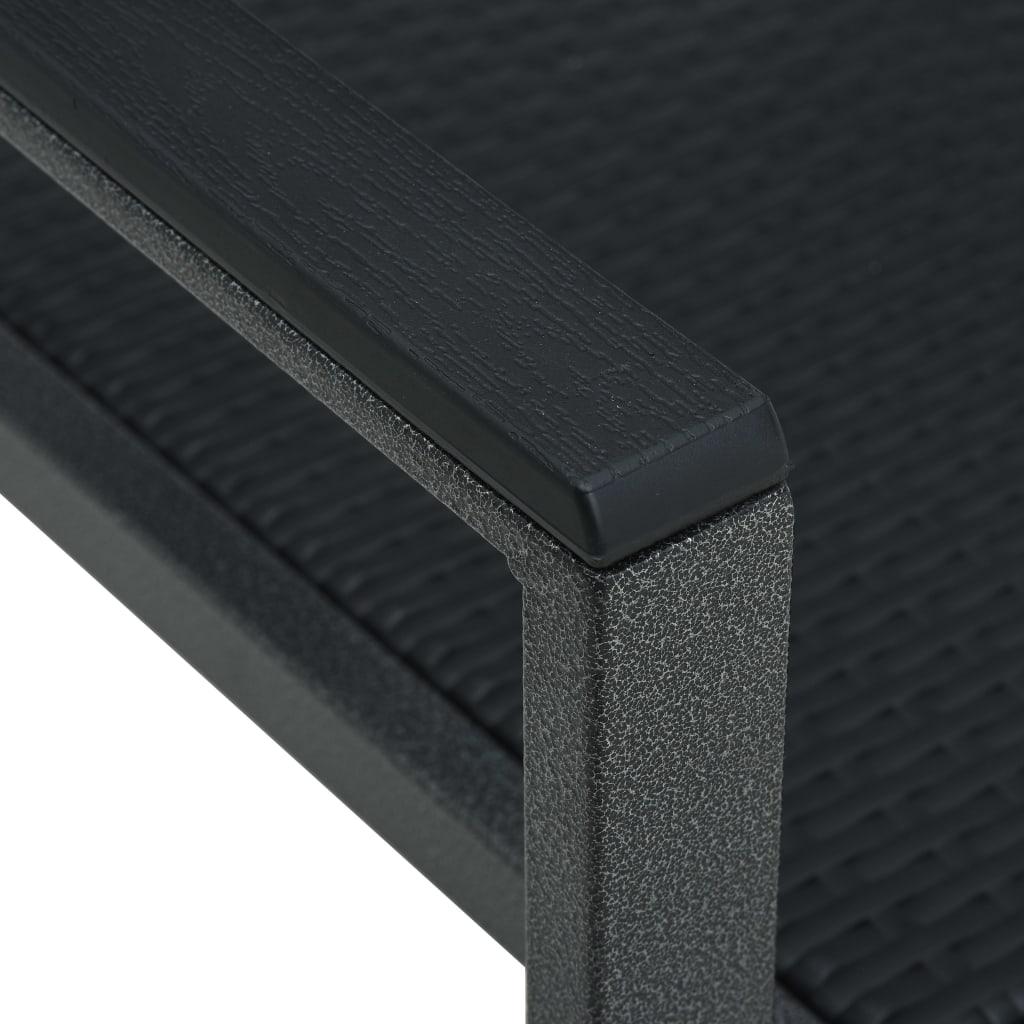vidaXL Tuinstoel 4 st rattan-look kunststof zwart