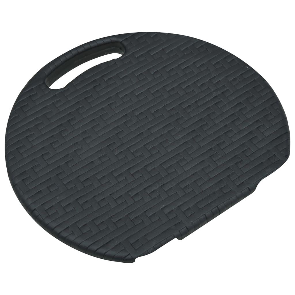 vidaXL Tuinkrukken inklapbaar 4 st rattan-look HDPE zwart