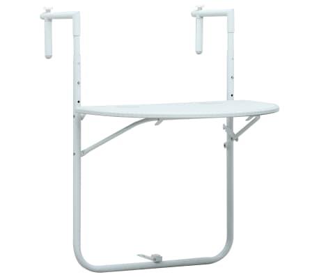 vidaXL hængende altanbord 60 x 64 x 83,5 cm plastik rattanlook hvid