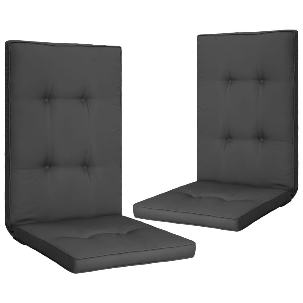 vidaXL Perne scaun de grădină, 2 buc., antracit, 120 x 50 x 5 cm poza 2021 vidaXL