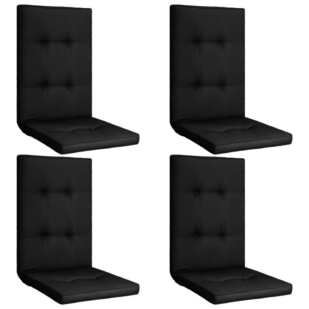 vidaXL Perne scaun de grădină, 4 buc., negru, 120 x 50 x 5 cm poza 2021 vidaXL