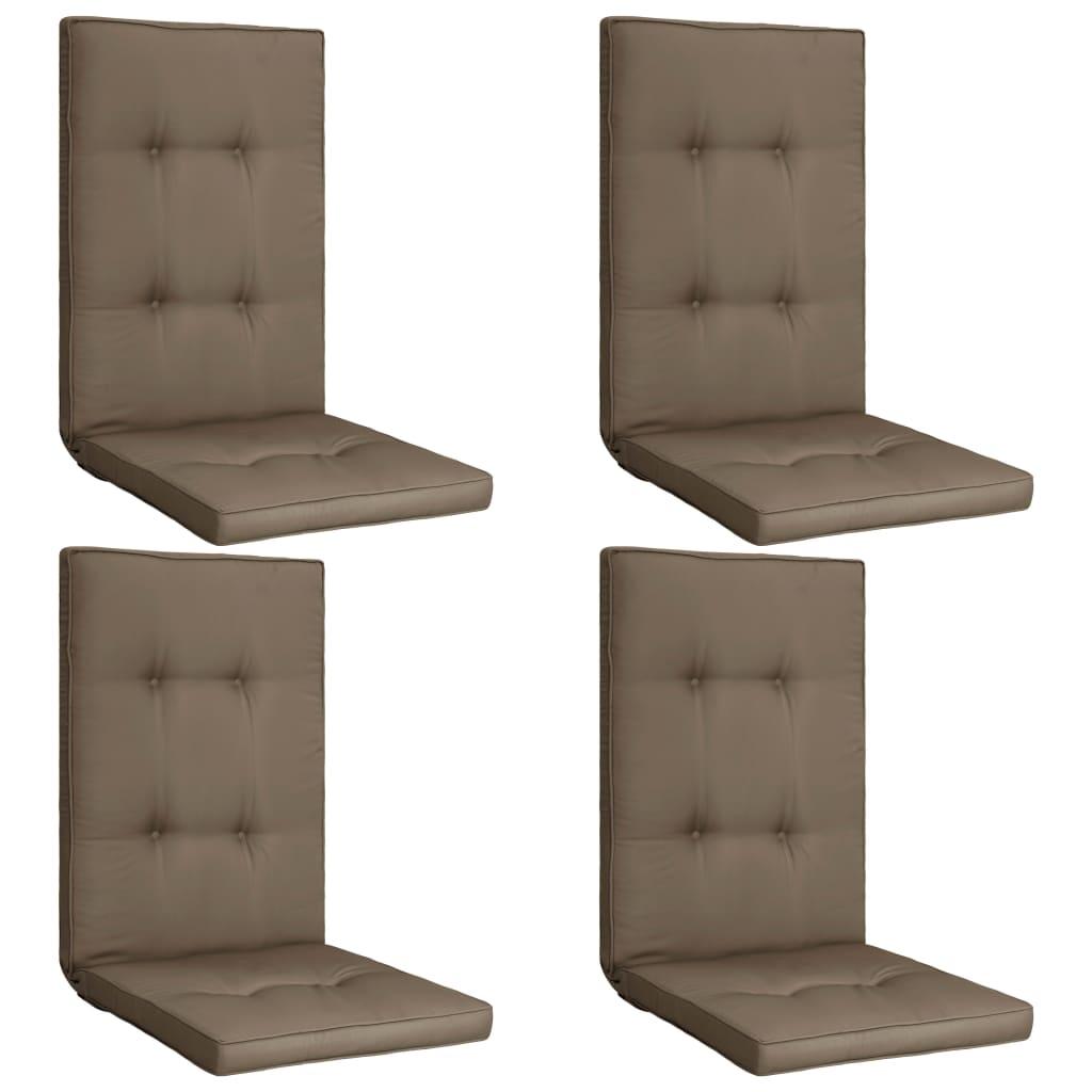 vidaXL Perne scaun de grădină, 4 buc., gri taupe, 120 x 50 x 5 cm vidaxl.ro