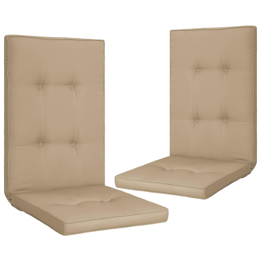 vidaXL Perne scaun de grădină, 2 buc., bej, 120 x 50 x 5 cm imagine vidaxl.ro