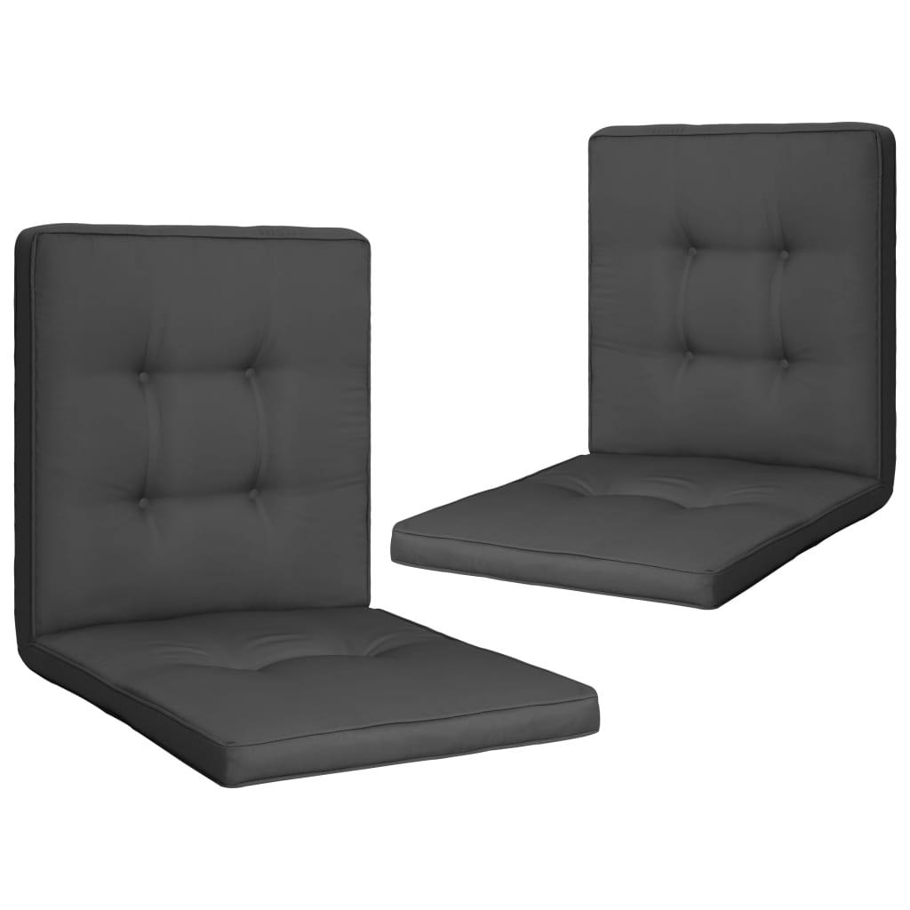 vidaXL Coussins de chaise de jardin 2 pcs Anthracite 100x50x5 cm