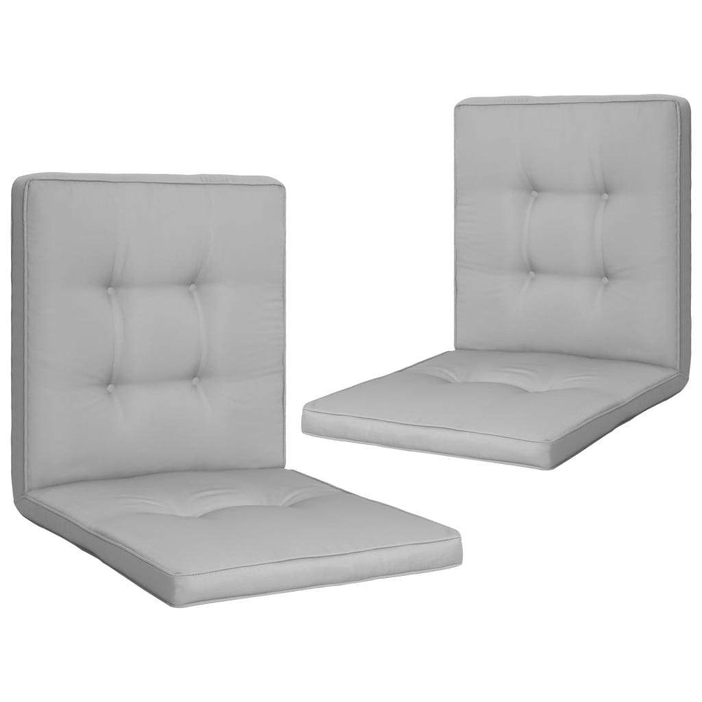vidaXL Perne scaun de grădină, 2 buc., gri, 100 x 50 x 5 cm poza vidaxl.ro