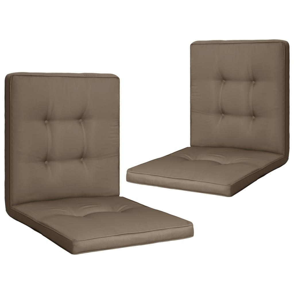 vidaXL Perne scaun de grădină, 2 buc., gri taupe, 100 x 50 x 5 cm poza vidaxl.ro