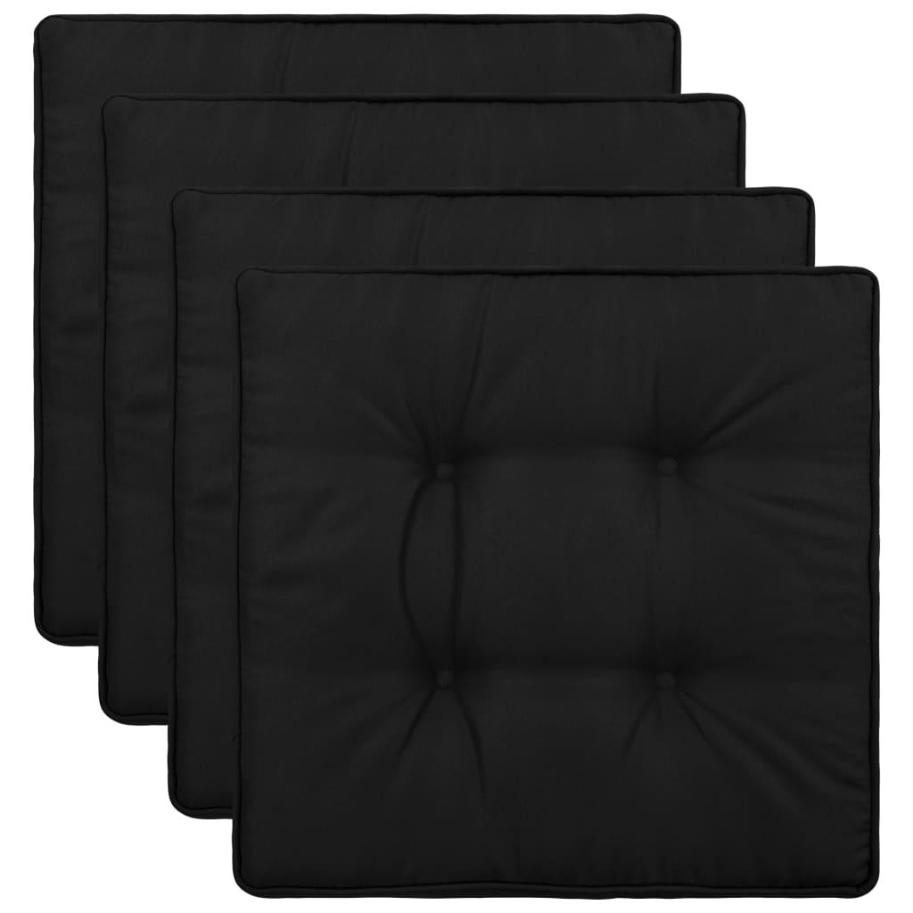 vidaXL Perne de scaun de grădină, 4 buc., negru, 40 x 40 x 5 cm vidaxl.ro