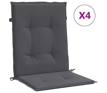 "vidaXL Garden Chair Cushions 4 pcs Anthracite 39.4""x19.7""x1.2"""