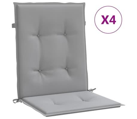 "vidaXL Garden Chair Cushions 4 pcs Gray 39.4""x19.7""x1.2"""