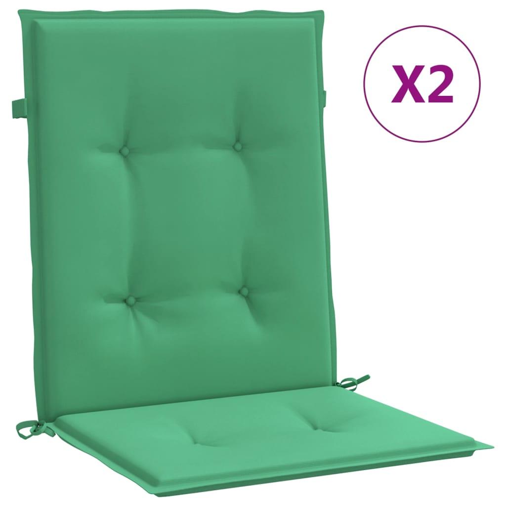 vidaXL Perne scaun de grădină, 2 buc., verde, 100 x 50 x 3 cm imagine vidaxl.ro