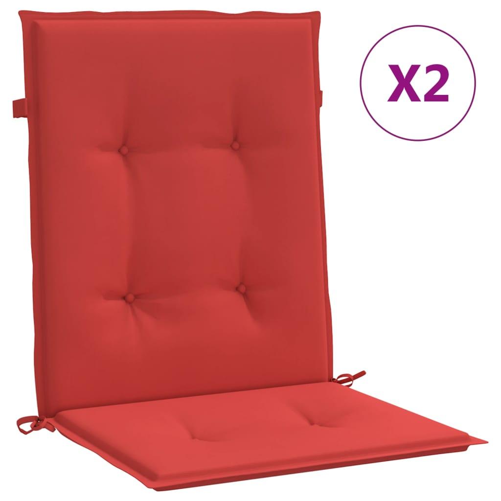 vidaXL Tuinstoelkussens 2 st 100x50x3 cm rood