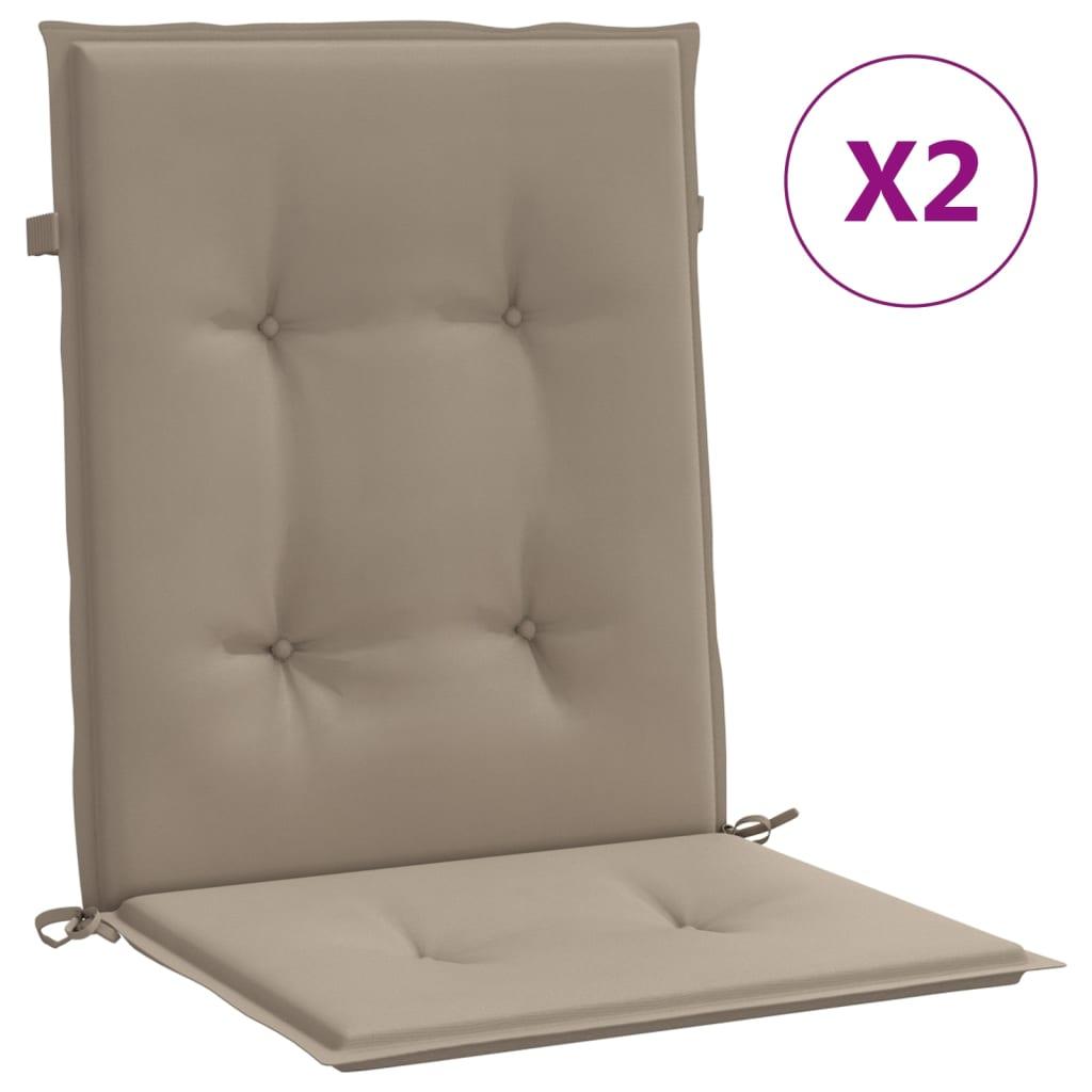 vidaXL Perne scaun de grădină, 2 buc., gri taupe, 100 x 50 x 3 cm poza vidaxl.ro