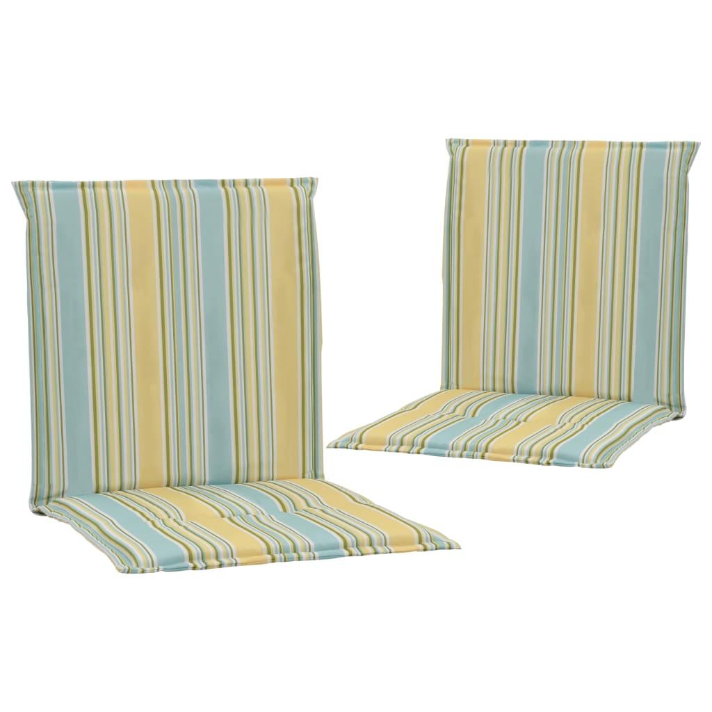 vidaXL Perne scaun grădină, 2 buc., multicolor, 100 x 50 x 3 cm vidaxl.ro
