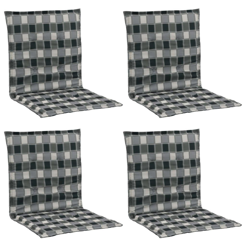 vidaXL Perne scaun grădină, imprimeu, 4 buc., multicolor, 100x50x3 cm vidaxl.ro