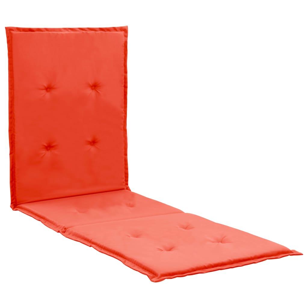vidaXL hynde til loungestol 180 x 55 x 3 cm rød
